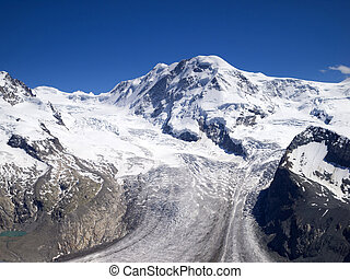 Gorner Glacier, Gornergrat, Switzerland. - The Gorner...