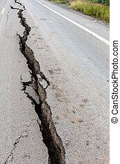Cracked and broken asphalt Road - Cracked and broken asphalt...