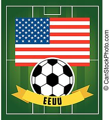 football soccer sport design, vector illustration eps10...