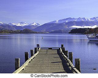 Lake Wanaka, Otago, New Zealand - Beautiful View of Lake...