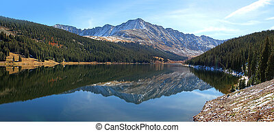 Clinton Gulch reservoir - Panoramic view of Clinton Gulch...