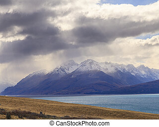 Mt.Cook Valley and Lake Pukaki, New Zealand - Colorful...