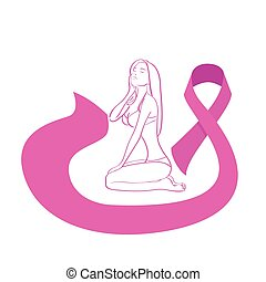 Pink Ribbon Breast Cancer Awareness Female Body