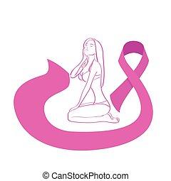 rosa, cuerpo,  cáncer, Conocimiento, pecho, hembra, cinta
