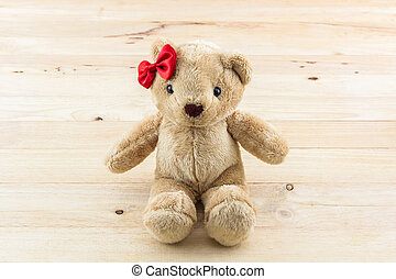 Classic teddy bear red bow toy - Classic teddy bear red bow...