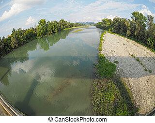 River Po in Settimo Torinese - Fiume Po meaning River Po in...
