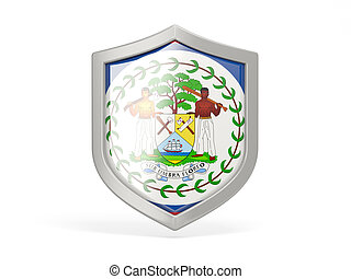 Shield icon with flag of belize