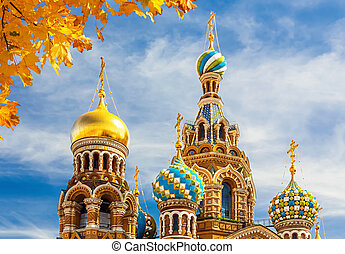 Church of the Savior on Spilled Blood in St Petersburg,...
