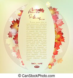 Vector illustration of autumn pattern with colorful...