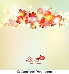 Autumn background with maple gold leaves Autumn pattern with...