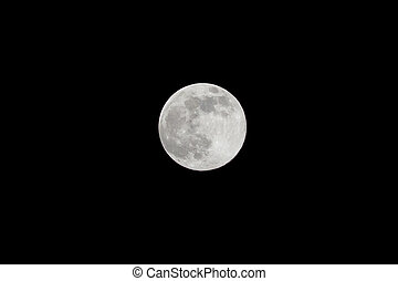 Full moon isolated - Full Moon isolated as Supermoon night...