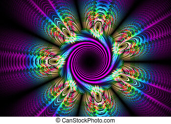 fractal illustration background of a bright flower bed