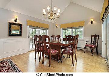Dining room in condo