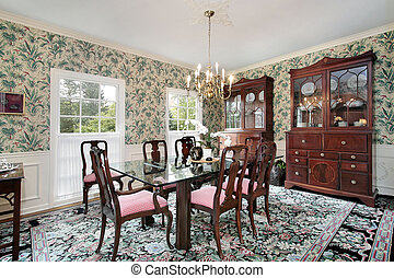 Dining room with buffet
