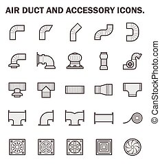 Air duct icon - Air duct and accessory icon sets.