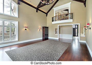Large family room with balcony
