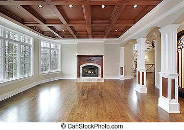 Family room in luxury home - Family room in new construction...