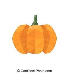 Illustration of modern flat design with origami halloween...