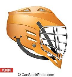 Lacrosse Helmet Side View - Orange Lacrosse Helmet Side...