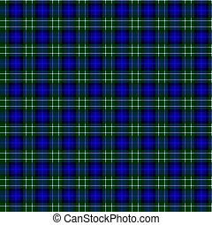 Clan Abercrombie Tartan - A seamless patterned tile of the...