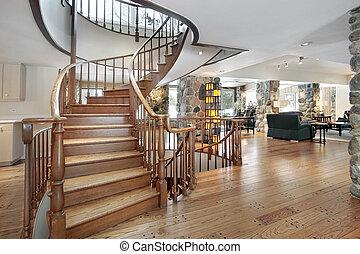 Western style foyer - Western style suburban foyer with...