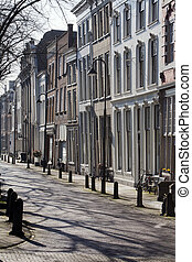 Crooked row houses