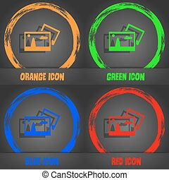 Copy File JPG sign icon. Download image file symbol. Fashionable modern style. In the orange, green, blue, red design. Vector