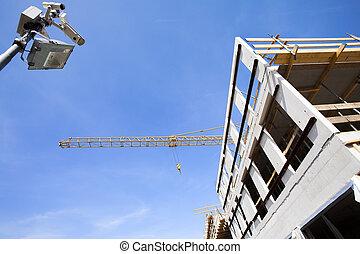 Construction site surveillance - Surveillance by security...
