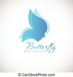 Butterfly symbol. - Vector illustration with Butterfly...