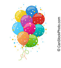 Holiday banners with colorful balloons Vector - Holiday...