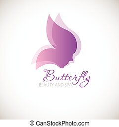 illustration with Butterfly symbol. - Vector illustration...