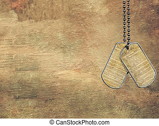 Freedom Tag - US Constitution on military dog tags with...