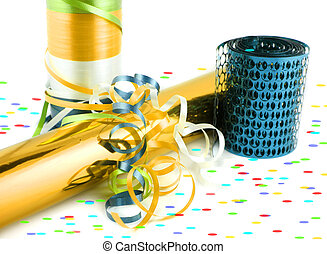 Colorful gift wrapping and ribbons
