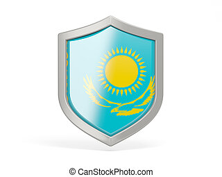 Shield icon with flag of kazakhstan