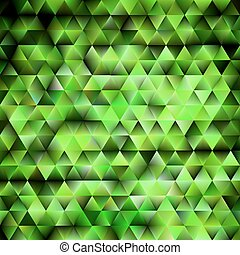 Abstract green shiny geometric background