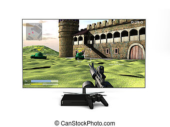 game console - Computer gaming and entertainment technology...