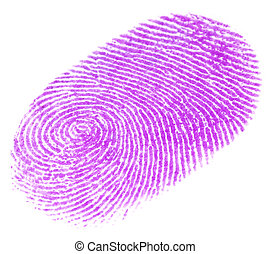 Fingerprint ove white background