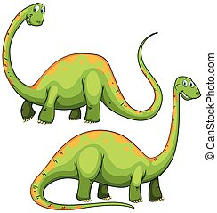 Two green dinosaurs smiling