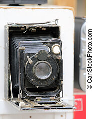 ancient manual camera used by photographers of the last...