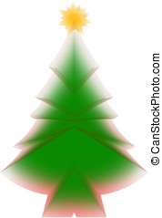 Abstract christmas tree with star