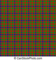 Clan Kinnimont Tartan - A seamless patterned tile of the...