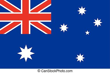 Australian flag - Original and simple Australia flag...