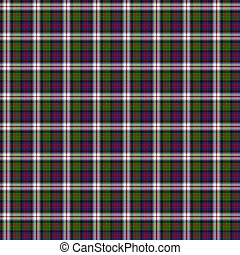 Clan MacDonald Dress Tartan - A seamless patterned tile of...