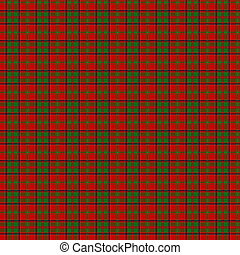 Clan MacDonald of Glencoe Tartan - A seamless patterned tile...