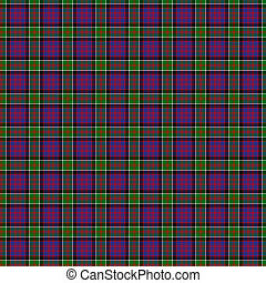 Clan MacDonald of Clanranald Tartan - A seamless patterned...