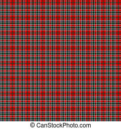 Clan MacDonald of Lochmaddy Tartan - A seamless patterned...
