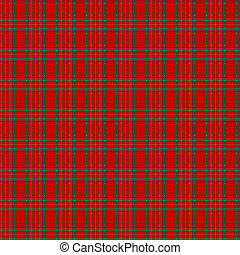 Clan MacDonald of Staffa Tartan - A seamless patterned tile...