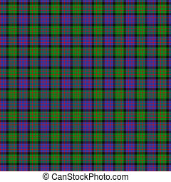 Clan MacDonald Tartan - A seamless patterned tile of the...