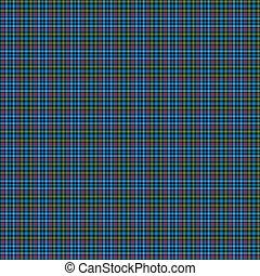 Clan MacDonald, Flora Tartan - A seamless patterned tile of...