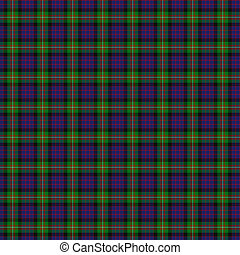 Clan MacDonell of Glengarry Tartan - A seamless patterned...
